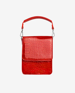 Hvisk POSH MINI CROCO Handle Bag 019 Red