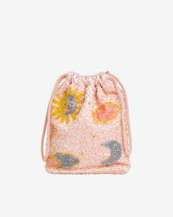 Hvisk POUCH SUNSKY BEADED Handle Bag 028 Peach