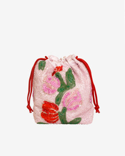 Hvisk POUCH TULIP BEAD Handle Bag 074 Light Pink
