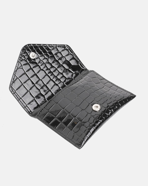 Hvisk WALLET CROCO Wallet 009 Black