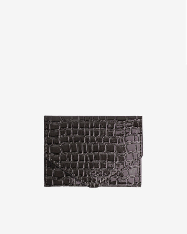 Hvisk WALLET CROCO Wallet 077 Dark Grey