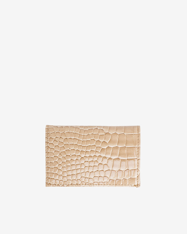 Hvisk WALLET FOLDED CROCO Wallet 122 Light Beige