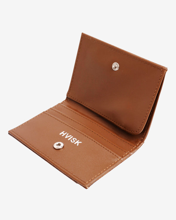 Hvisk WALLET FOLDED CROCO Wallet 124 Brownish