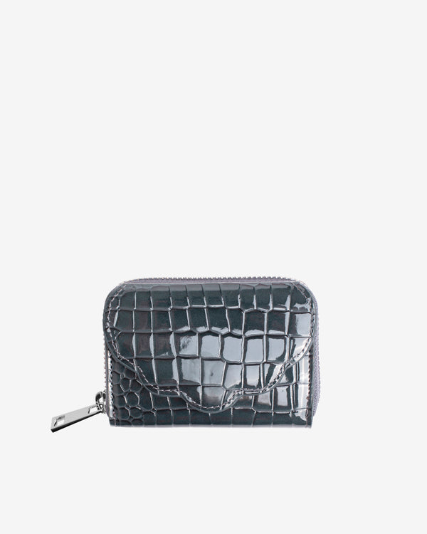 Hvisk WALLET SHELL CROCO Wallet 123 Grey Dark