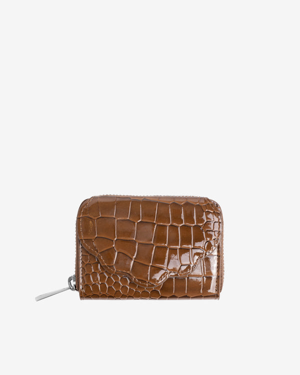 Hvisk WALLET SHELL CROCO Wallet 124 Brownish