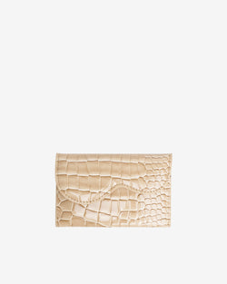 Hvisk WALLET WAVY CROCO Wallet 122 Light Beige