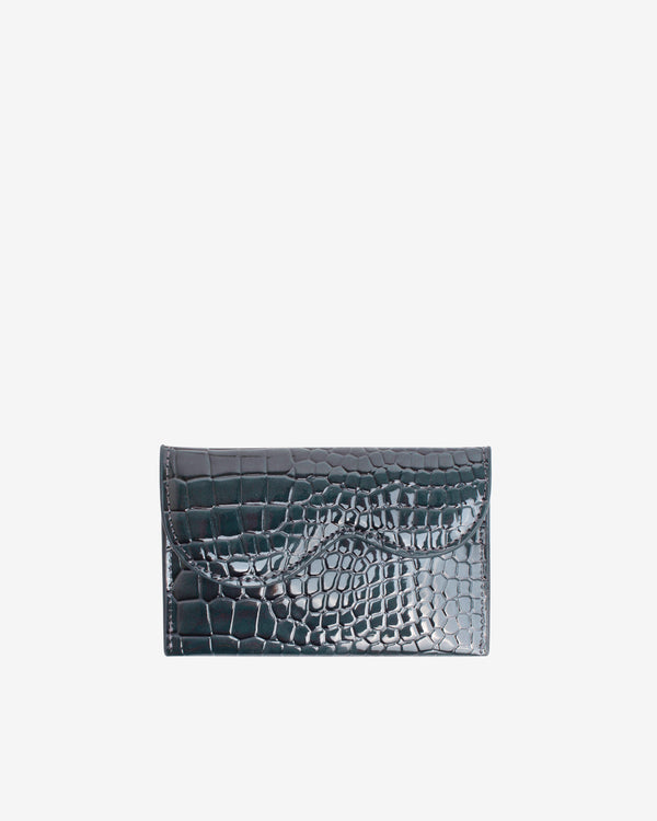 Hvisk WALLET WAVY CROCO Wallet 123 Grey Dark
