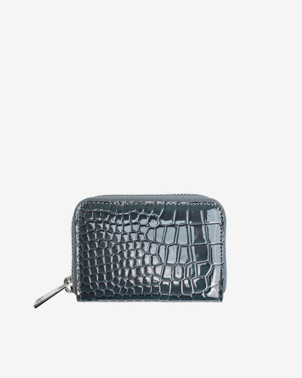 Hvisk WALLET ZIPPER CROCO Wallet 123 Grey Dark