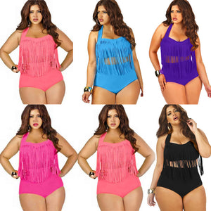 Plus Size Sexy Halter Swimwear