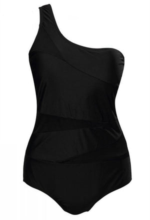 Plus Size One Shoulder Swimwear