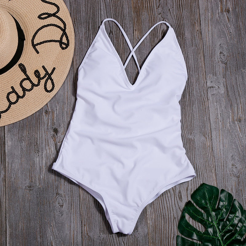 Backless Plus Size Swimming Suit