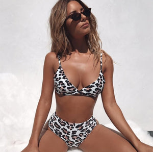 Sexy Leopard Snake Print Bathing Suit