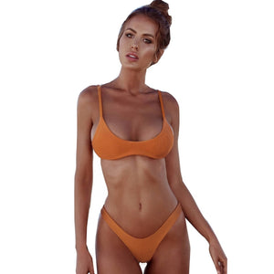Sexy Solid Brazilian Bikinis For Women