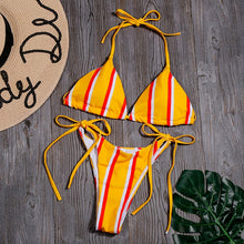 Load image into Gallery viewer, Sexy Striped Print Swimwear