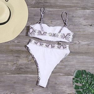 Solid 2020 High Waist Bikini Set