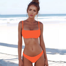 Load image into Gallery viewer, Woman Solid Sexy Bikini Set