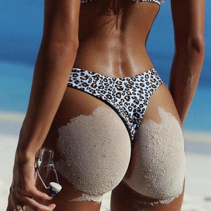 Sexy Leopard High Cut Swimwear
