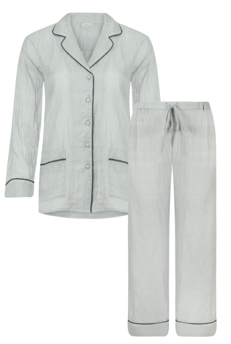 Luxury silk pyjamas, the perfect pj gift for Mother's Day. Beautifully cut silk pyjamas in a lightweight handwoven silk.
