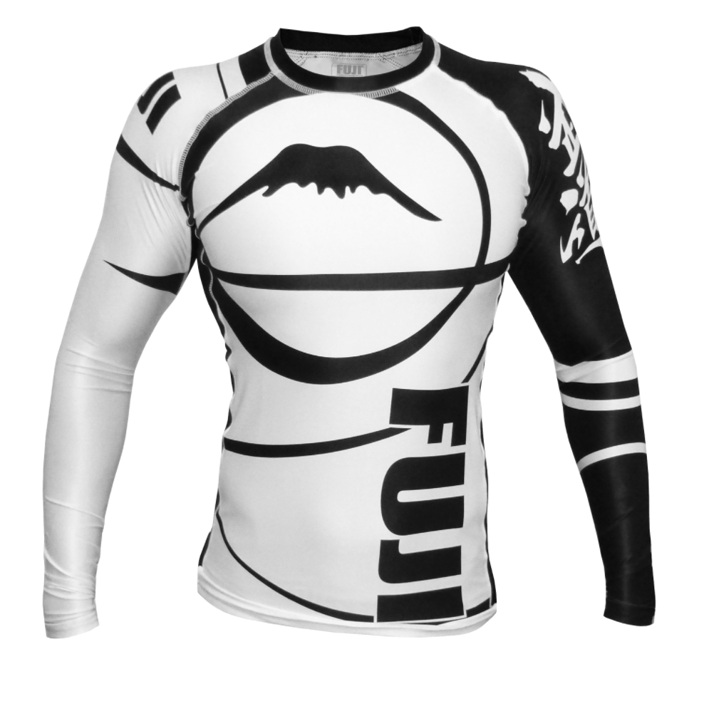 FUJI Sports Freestyle IBJJF Ranked Rashguard - White Long Sleeve