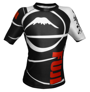 FUJI Sports Freestyle IBJJF Ranked Rashguard - Black Short Sleeve