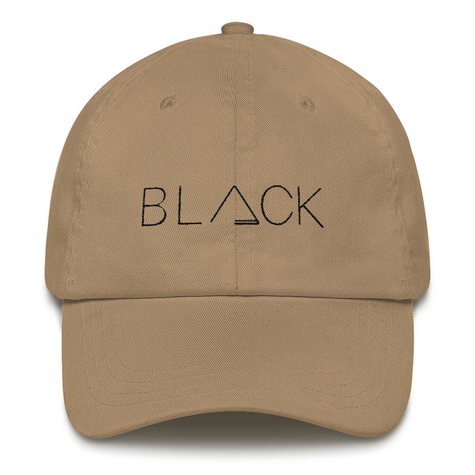 BLACK Dad Hat:  Khaki