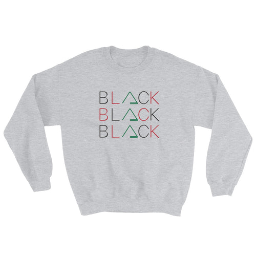 BLACK Multi Unisex Sweatshirt