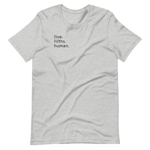 Five-Fifths Human Pocket {in black} Unisex Tee