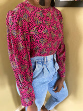 Vintage Cheetah and Paisley Blouse