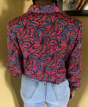 Vintage Multi Color Swirl Blouse
