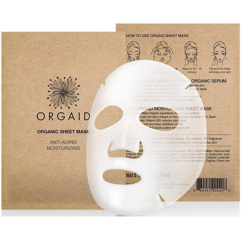 Orgaid Exfoliator & Mask One sheet mask Anti-aging & Moisturizing Organic Sheet Mask