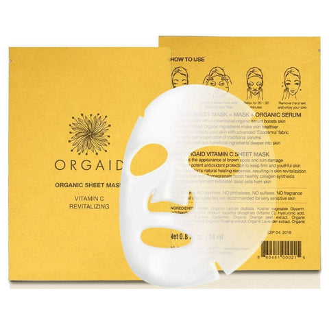 Orgaid Exfoliator & Mask Vitamin C & Revitalizing Organic Sheet Mask