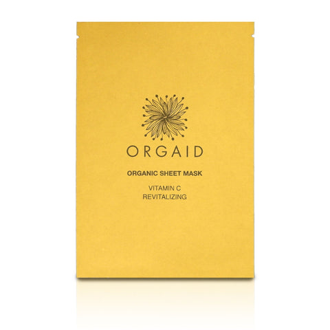 Orgaid Exfoliator & Mask One sheet mask Vitamin C & Revitalizing Organic Sheet Mask
