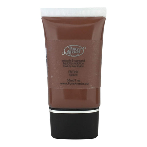 Pure Anada Foundation Full Size (30 ml) Liquid Foundation - Ebony (Global/Black)