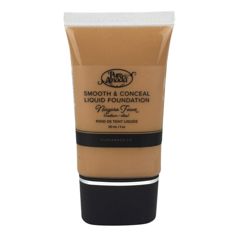 Pure Anada Foundation Full Size (30 ml) Liquid Foundation - Niagara Fawn (Medium/Olive)