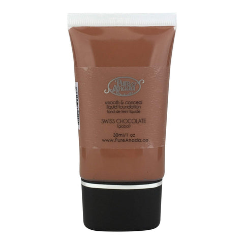 Pure Anada Foundation Full Size (30 ml) Liquid Foundation - Swiss Chocolate (Global/Neutral)
