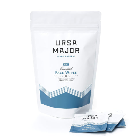 Ursa Major Cleanser 20 pack Essential Face Wipes