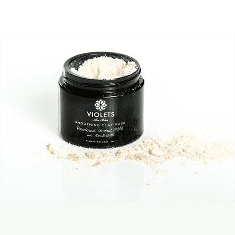 Violets are blue Exfoliator & Mask Smoothing Clay Mask with Coconut Powder and Rockrose