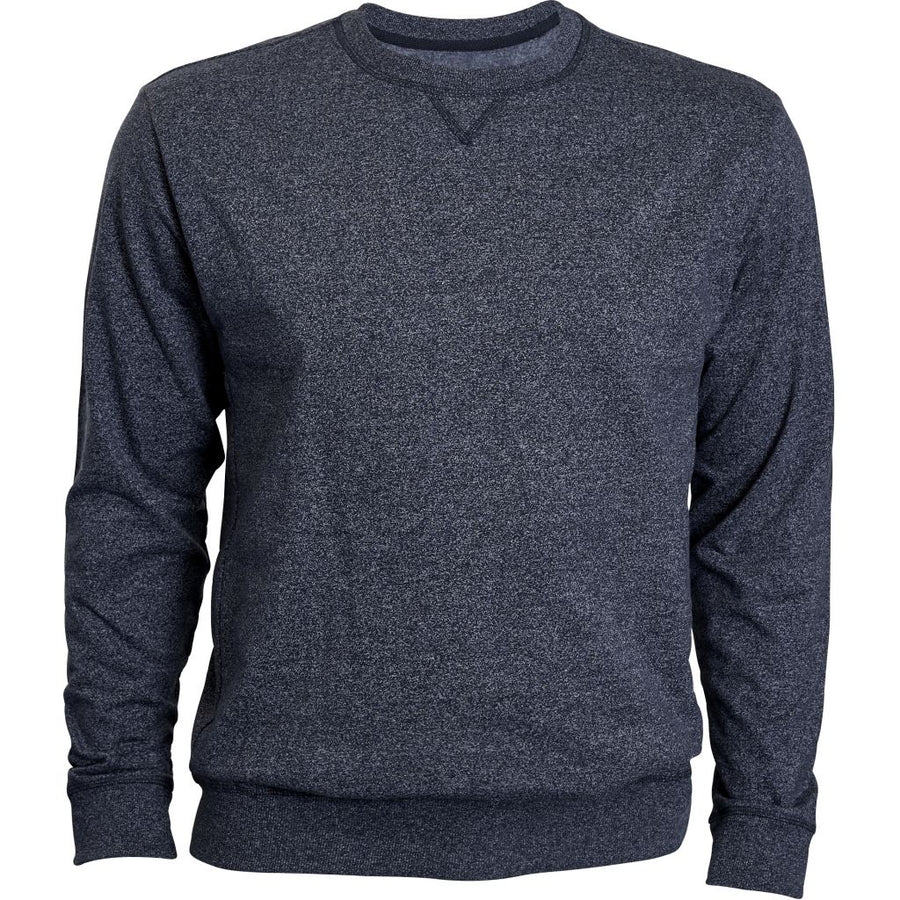 O-neck sweat - Stor mand - Blue Melange - Knokleriet