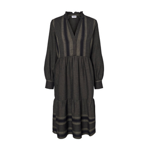 Winny L/S Oversize Long Dress - Dame Kjole - Ivy Green - Knokleriet