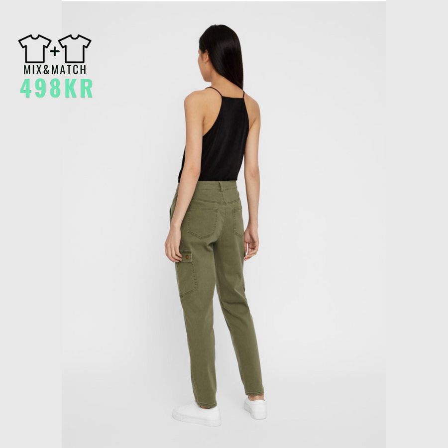 Bronx Cargo Relaxed - Dame Pants - Olive Night - Knokleriet