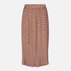 Tessa Pleated - Dame nederdel - D Orchid Stripe - Knokleriet