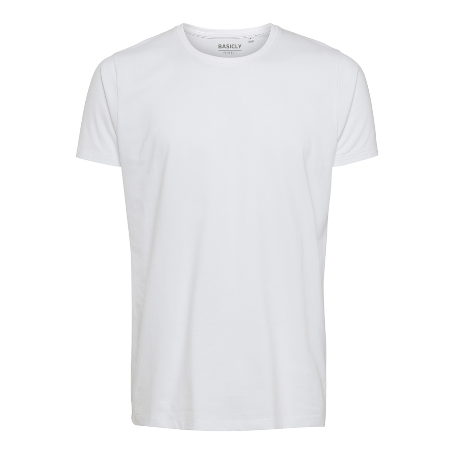 BASICLY PERFECT - HERRE T-SHIRT - 1 STK HVID - Knokleriet