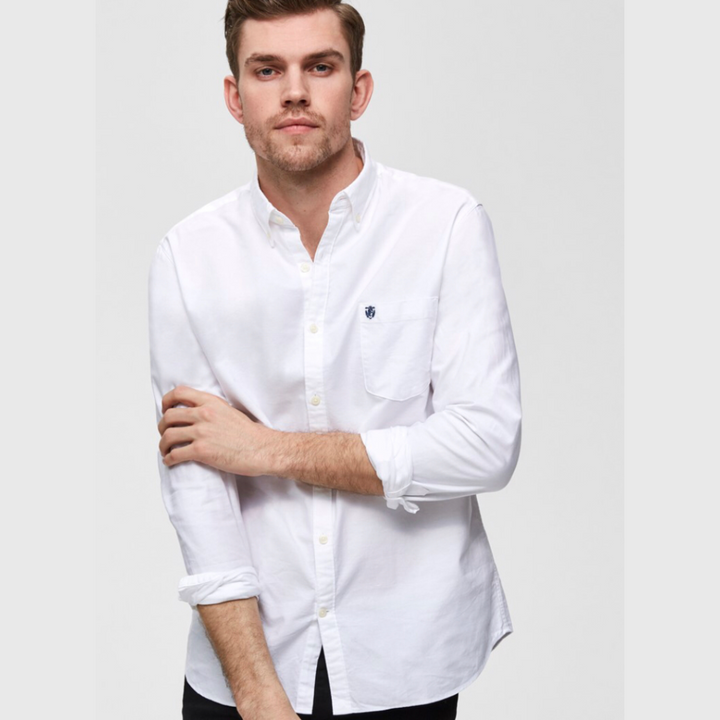 Oxford herre skjorte - White