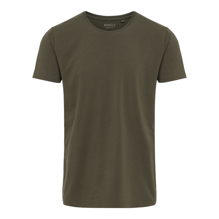 BASICLY PERFECT - HERRE T-SHIRT - 1 STK Army