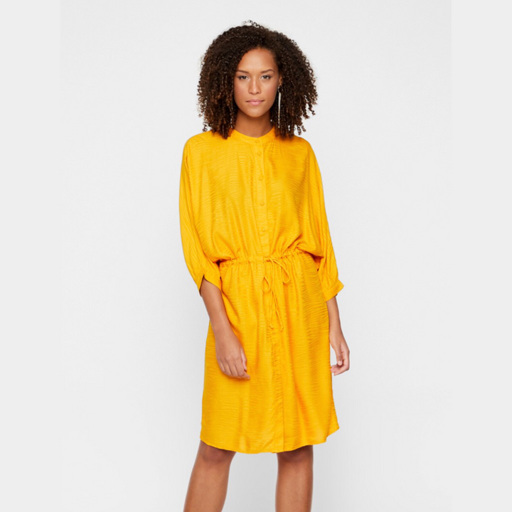 Snicka 3/4 Dress - Dame Kjole - Cadmium Yellow - Knokleriet