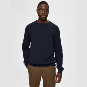 Irving Crew Neck - Herre Strik - Sky Captain