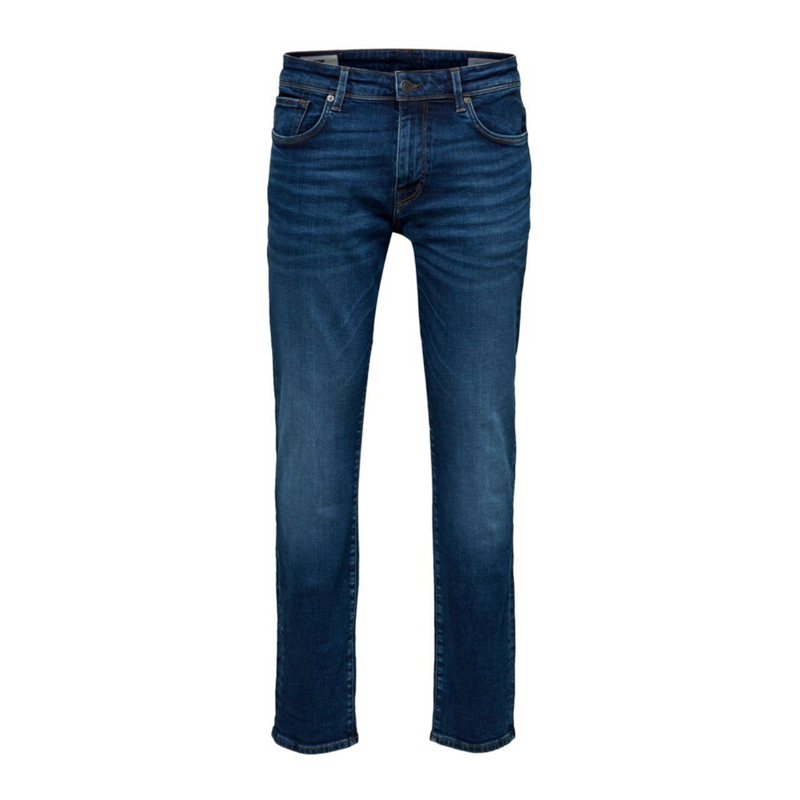 Straight-Scott - Herre Jeans - Medium Blue Denim - Knokleriet