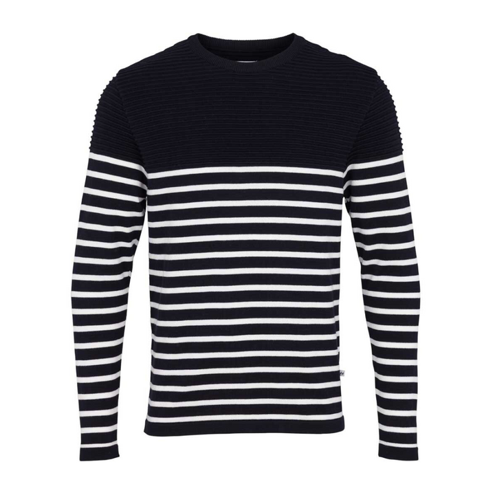 Link Stripe - Herre strik - Navy/ Off white