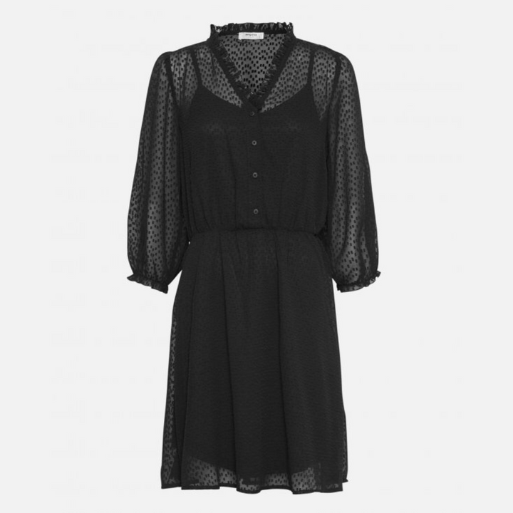 Ayella Dress - Dame Kjole - Black