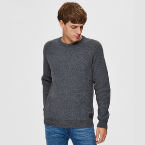 Irving Crew Neck - Herre Strik - Medium Grey Melange